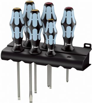 Wera 05032060001 3334/6 6 Piece Kraftform Stainless Screwdriver Set SL/PH
